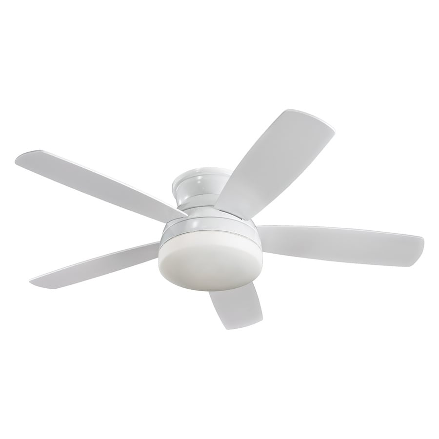 Monte Carlo Fan Company Traverse 52-in White Flush Mount Indoor Ceiling Fan Included (5-Blade)