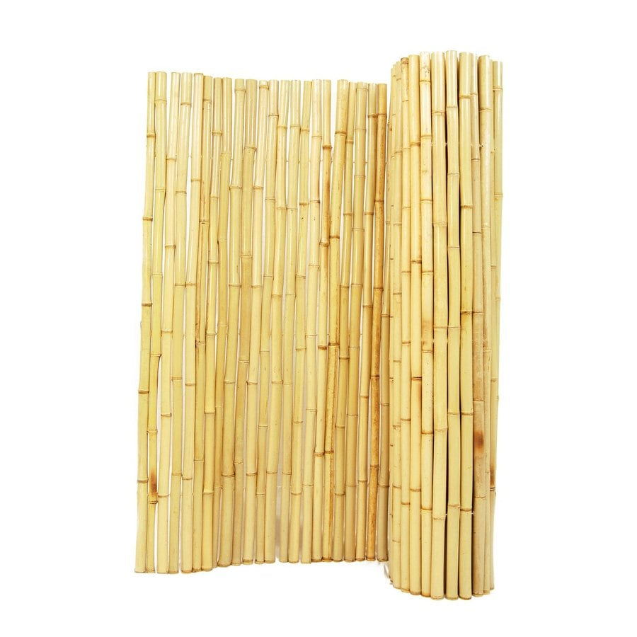 Backyard X-Scapes Natural Wood Bamboo Fencing (Common: 8-ft x 4-ft; Actual: 8-ft x 4-ft)