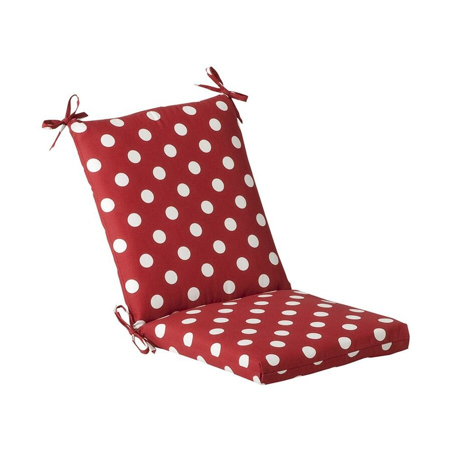 Pillow Perfect Red Polka Dot Cushion For Universal