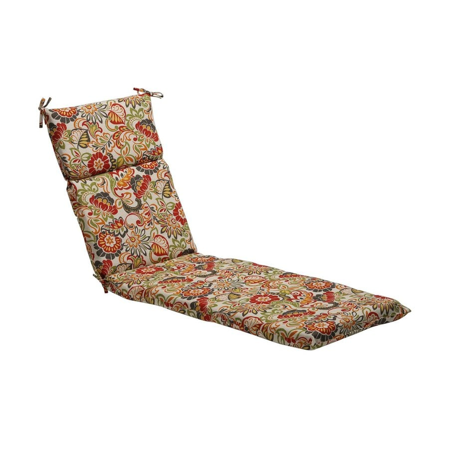 Pillow Perfect Floral Multicolored Floral Cushion For Chaise Lounge