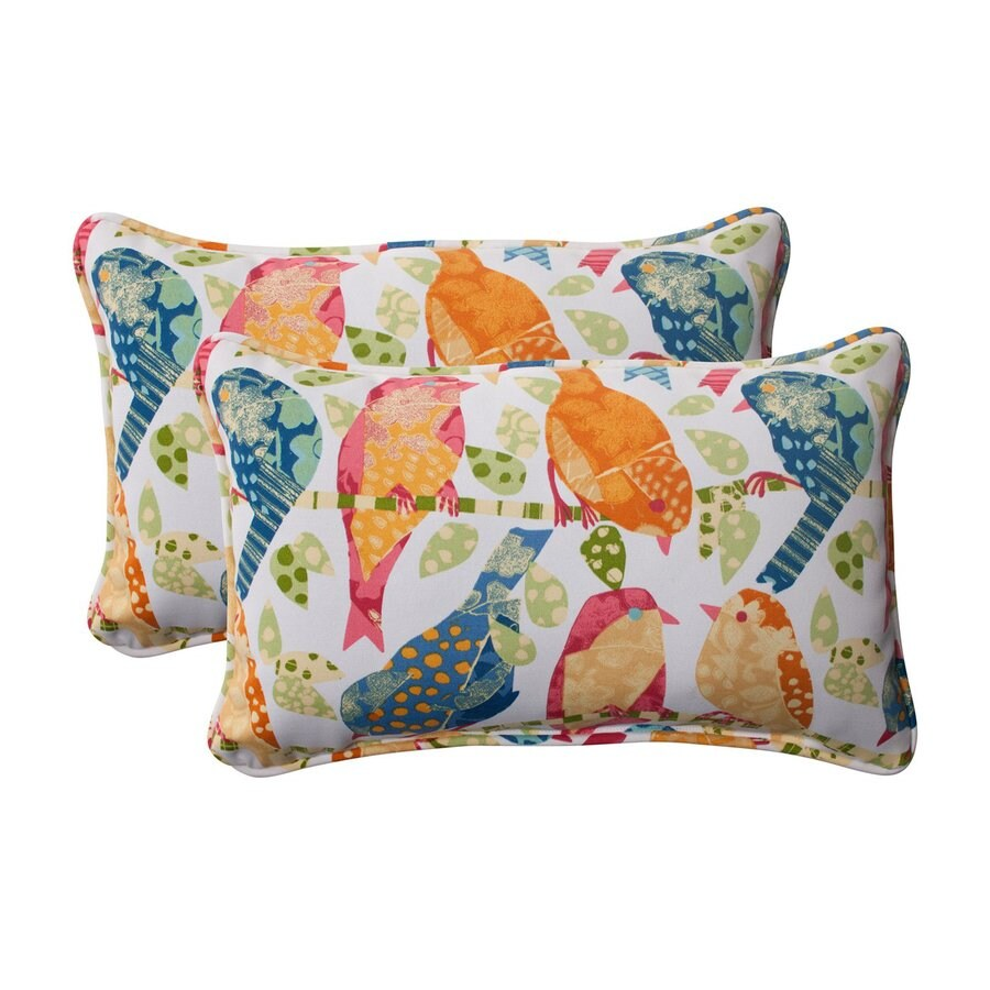 Small Decorative Outdoor Pillows : Shop Pillow Perfect Ash Hill 2-Pack White Rectangular Outdoor Decorative Pillow at Lowes.com