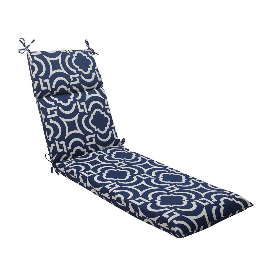 Pillow Perfect Carmody Navy Geometric Cushion For Chaise Lounge