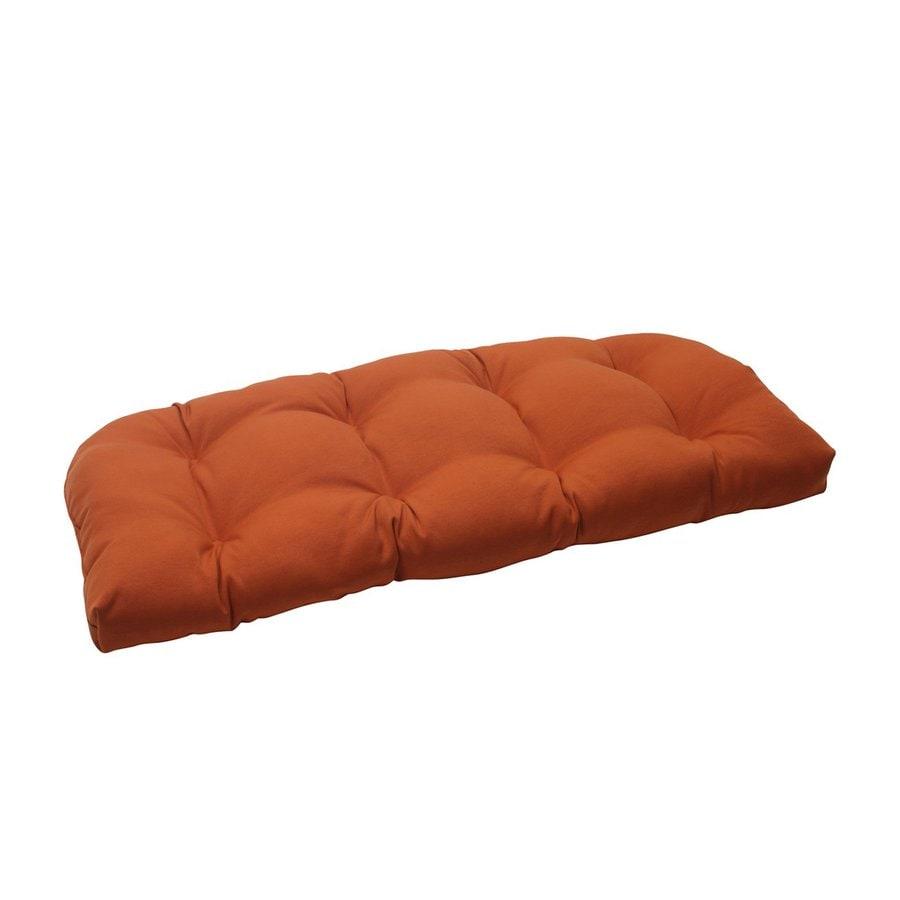 Pillow Perfect Cinnabar Burnt Orange Solid Seat Pad For Loveseat