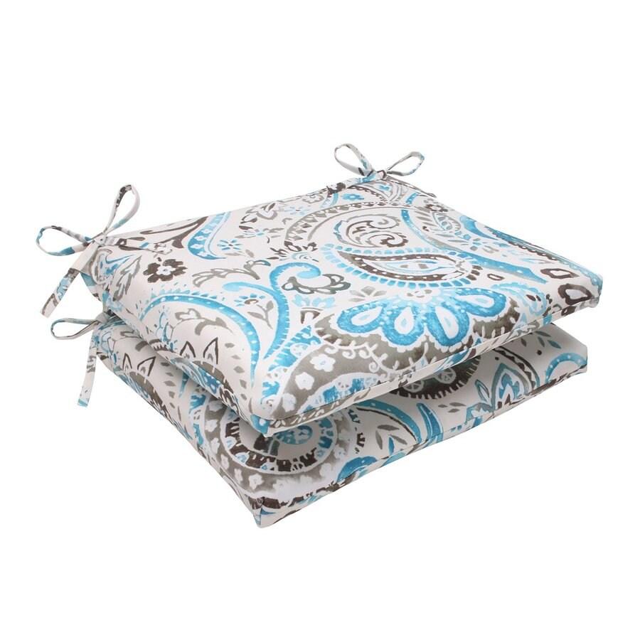 Pillow Perfect Vermilya Tidepool Paisley Seat Pad For Universal