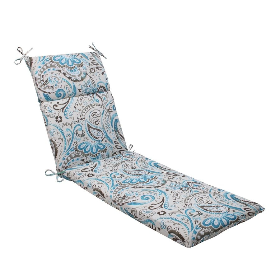 Pillow Perfect Vermilya Tidepool Paisley Cushion For Chaise Lounge