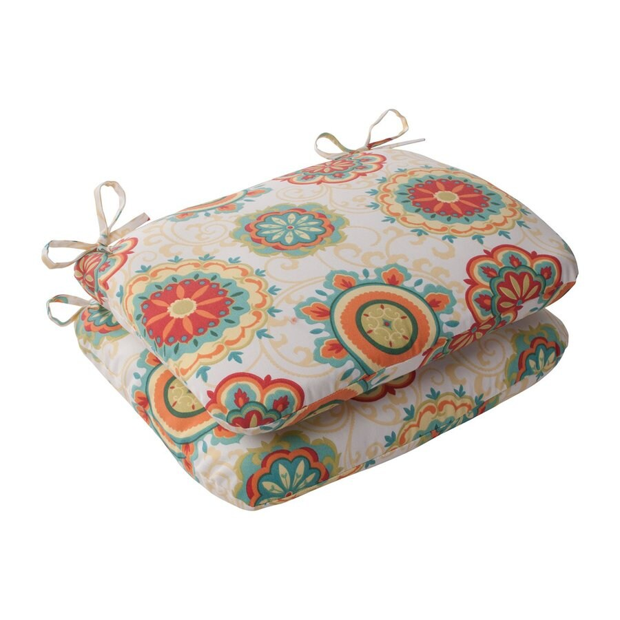 Pillow Perfect Farrington Multicolored Floral Seat Pad For Universal