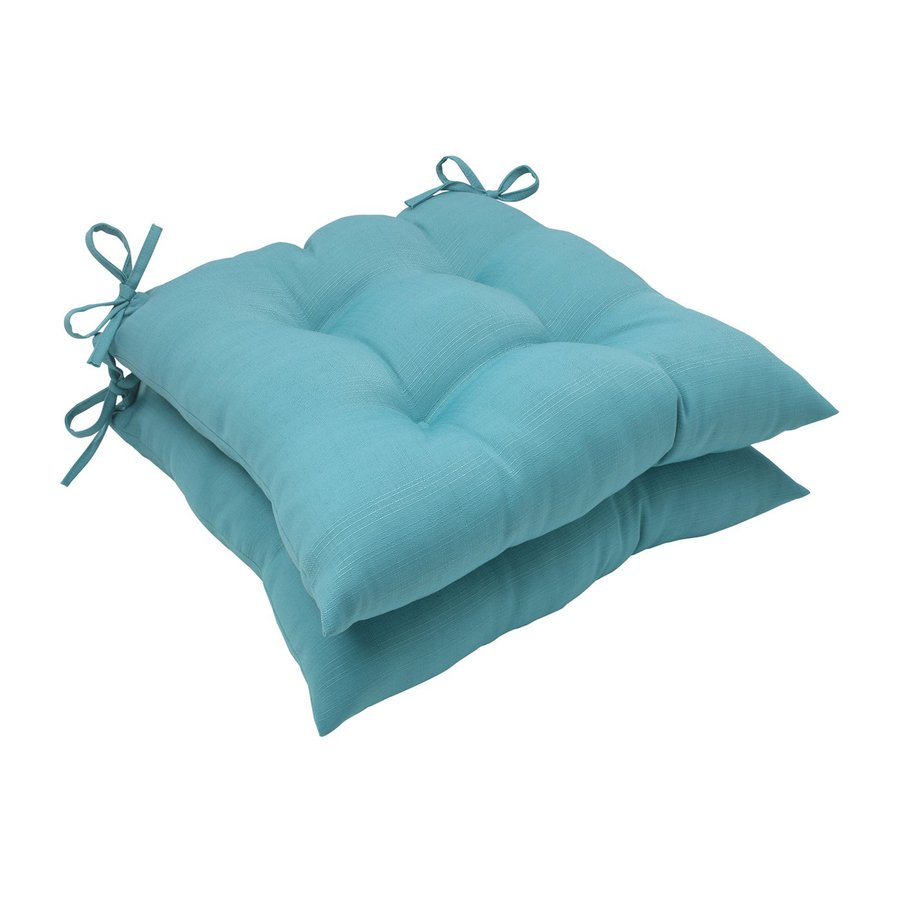 Pillow Perfect Forsyth Turquoise Solid Seat Pad For Universal