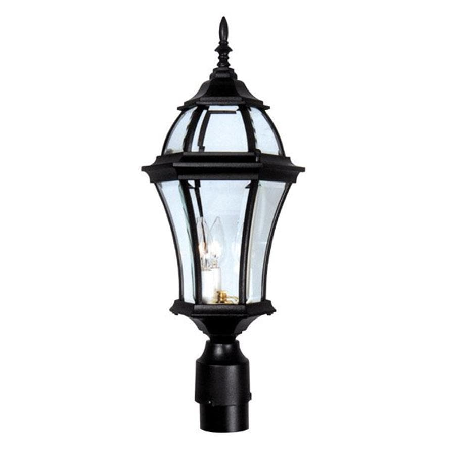 Special Lite Plantation 22-in H Black Post Light