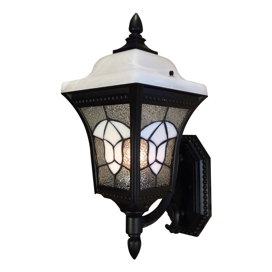 Special Lite Abington 15.25-in H Black Outdoor Wall Light