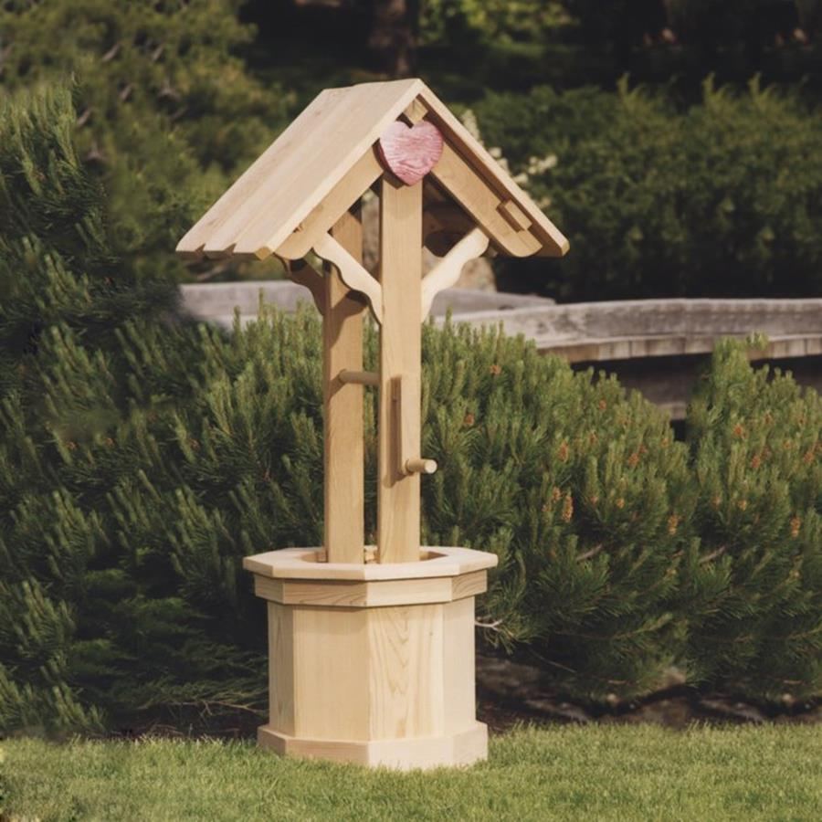 All Things Cedar 16-in x 48-in Unfinished Cedar Wishing Well Planter