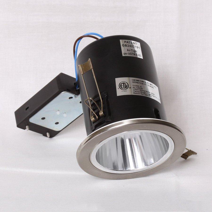 Twice Bright Lighting Brushed Nickel New Construction Recessed Light Kit
