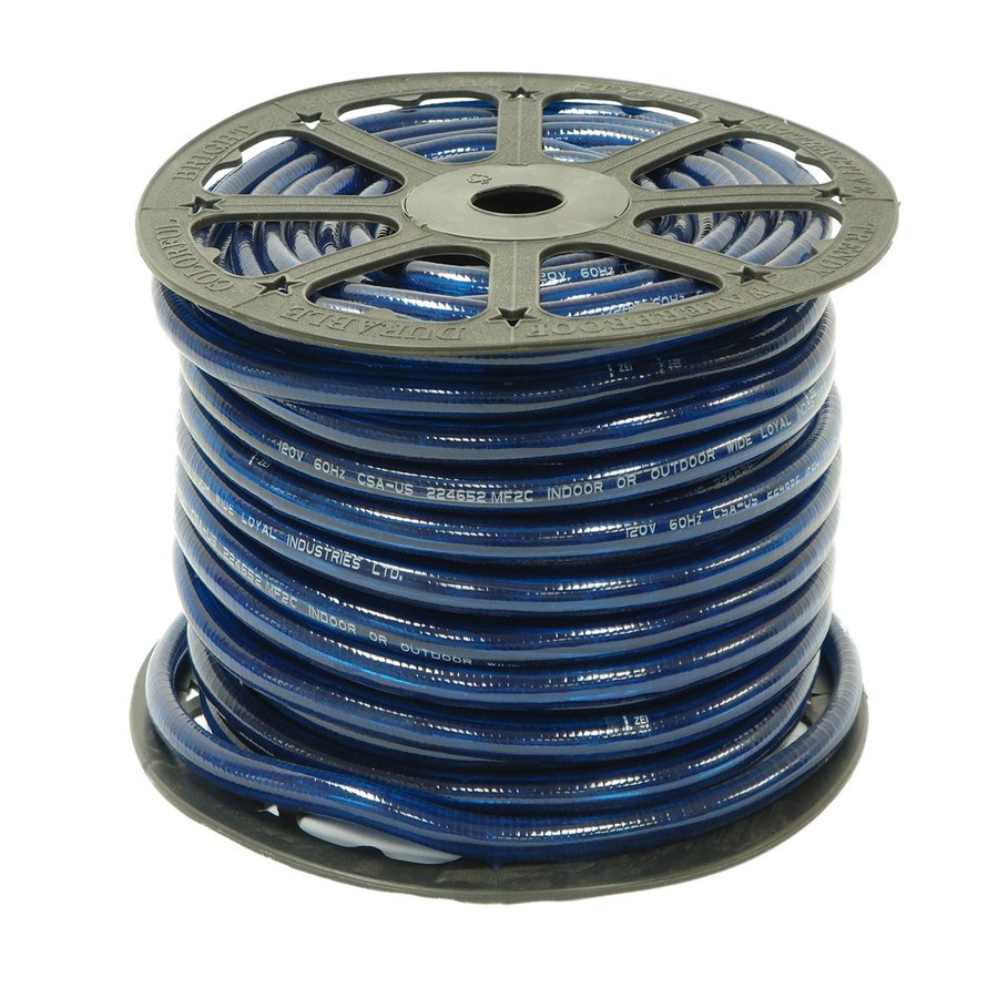 Wide Loyal Wide Loyal Blue Incandescent Rope Light (Actual: 300-ft)