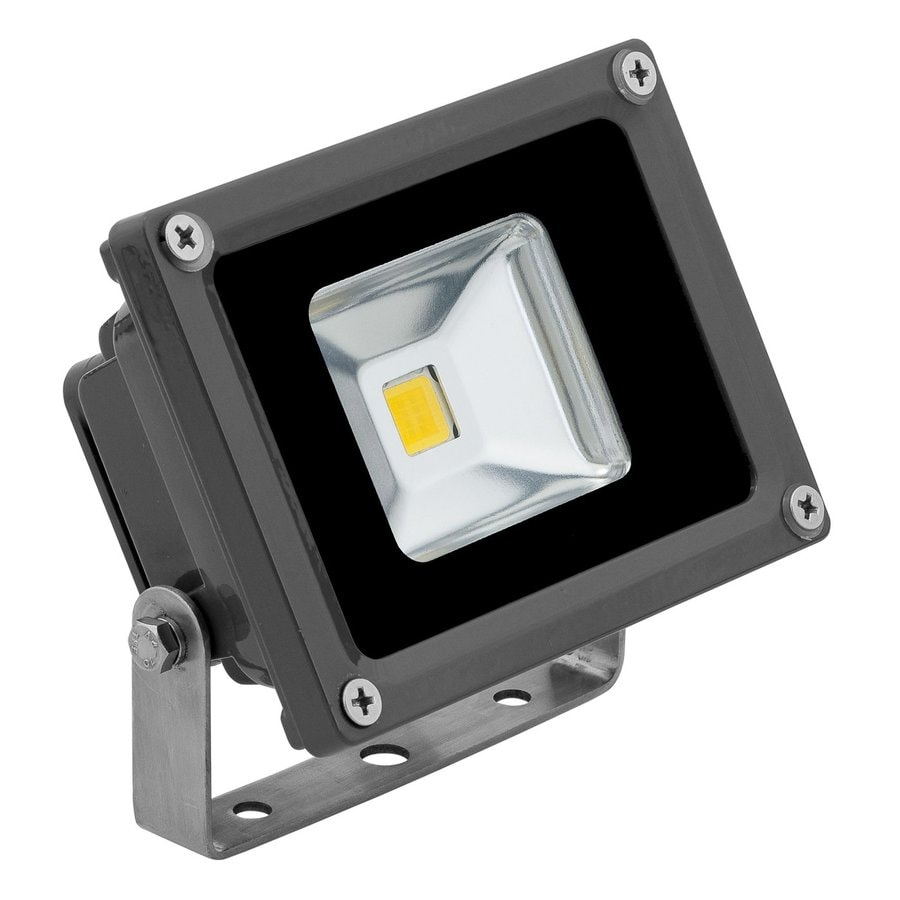 E-LED Lighting 3.38-in 1-Head Led Grey Switch-Controlled Flood Light