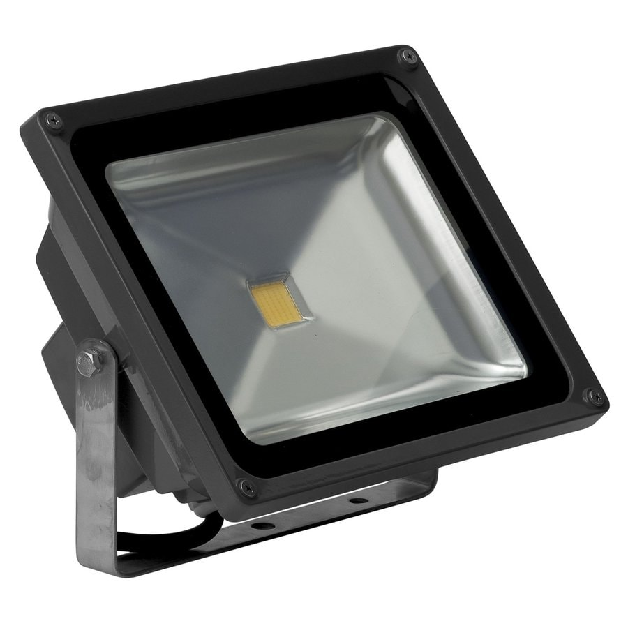 Single Outdoor Flood Light Fixture: Shop E-LED Lighting 9.29-in 1-Head Led Grey Switch