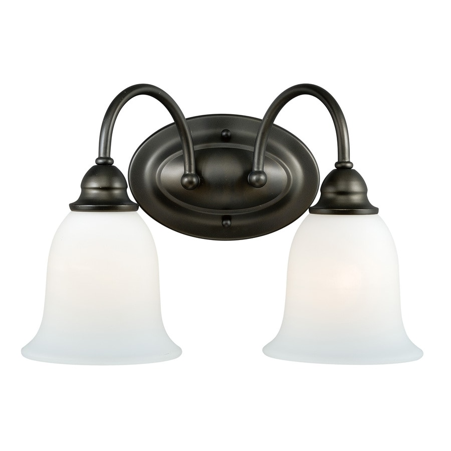 Vanity Lights Oil Rubbed Bronze : Shop Cascadia 2-Light Concord Oil Rubbed Bronze Bathroom Vanity Light at Lowes.com