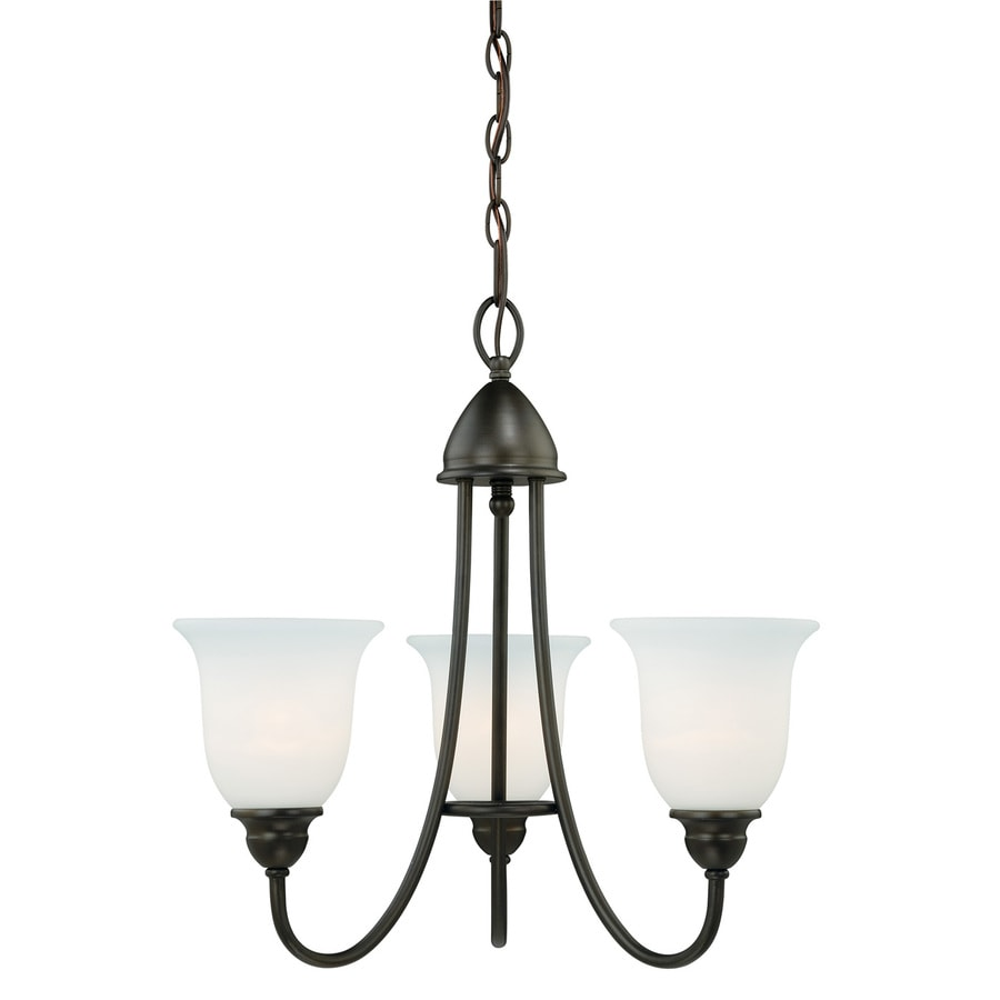 Cascadia Concord 20.5-in 3-Light Oil Rubbed Bronze Wrought Iron Shaded Chandelier