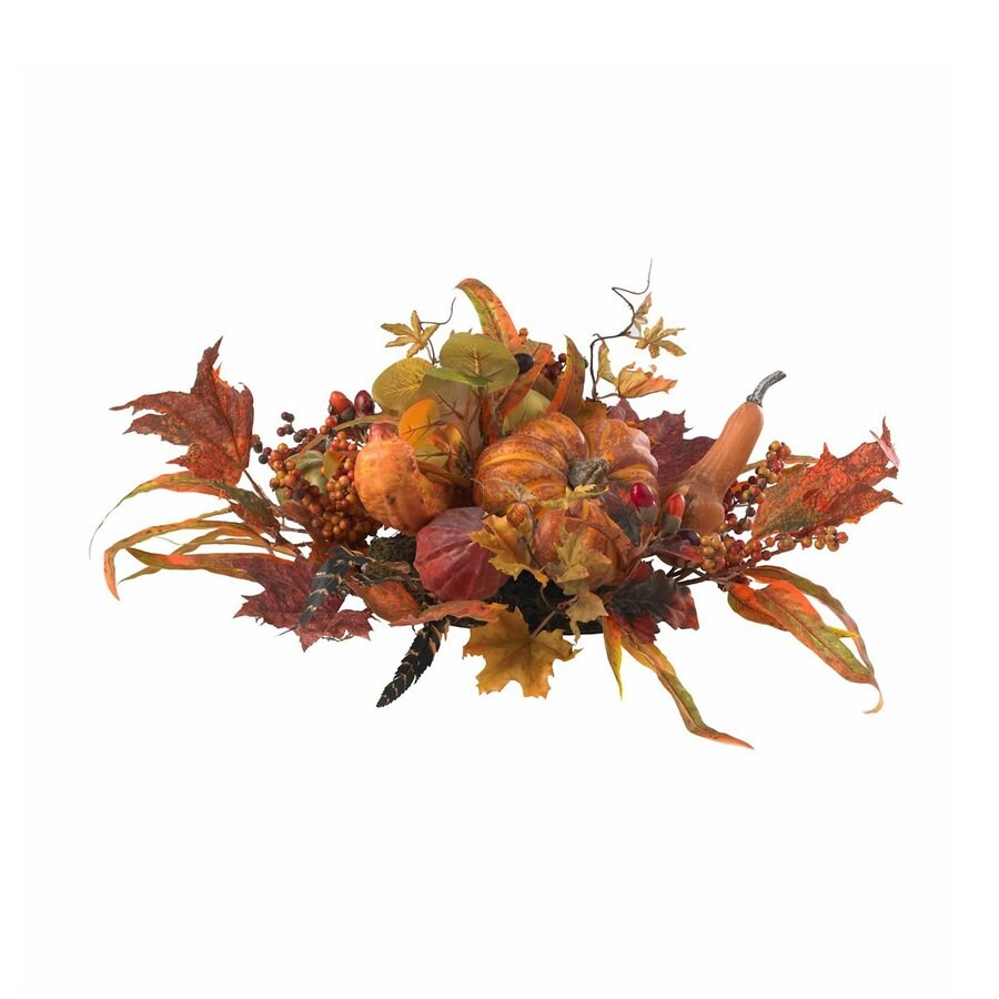 Nearly Natural Orange Harvest Centerpiece