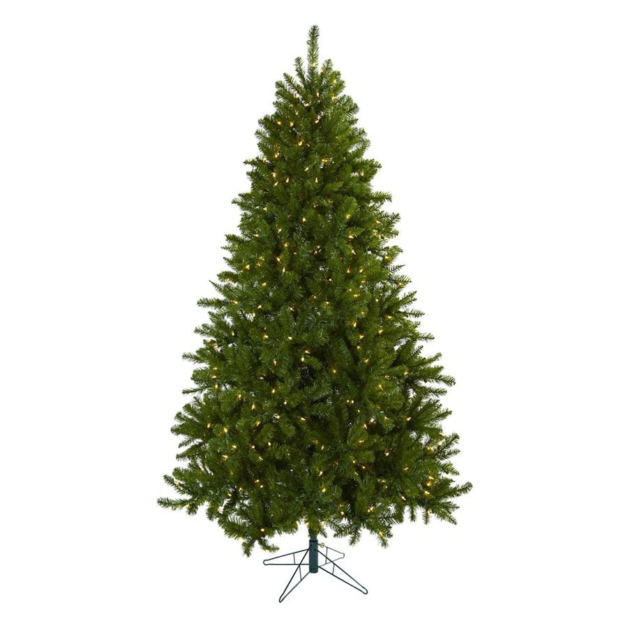 Nearly Natural Windermere 7.5-ft Pre-Lit Artificial Christmas Tree with White Clear Incandescent Lights