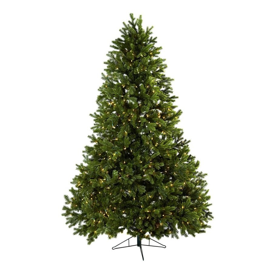 Nearly Natural Royal Grand 7.5-ft Pre-Lit Artificial Christmas Tree with White Clear Incandescent Lights