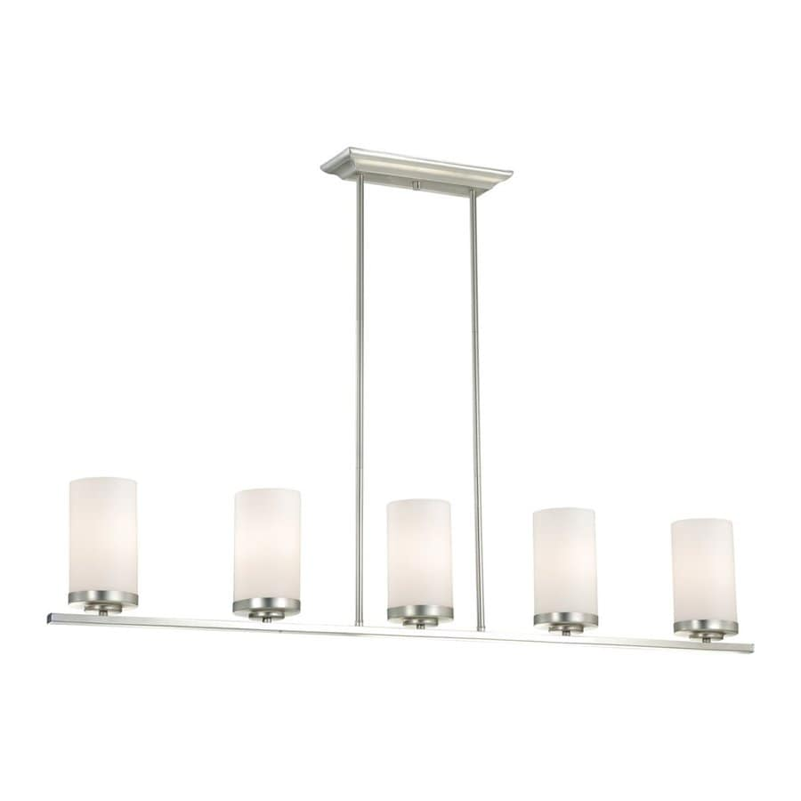shop cascadia oxford 4 in w 5 light brushed nickel kitchen