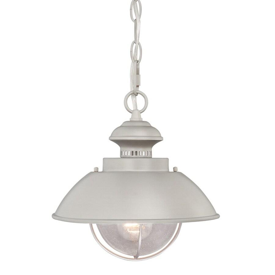 Cascadia Harwich 10.75-in H Nickel Outdoor Pendant Light