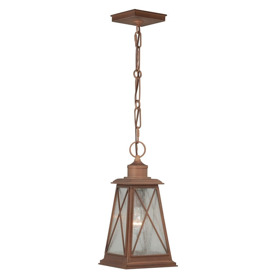 Cascadia 14.25-in H Copper Outdoor Pendant Light