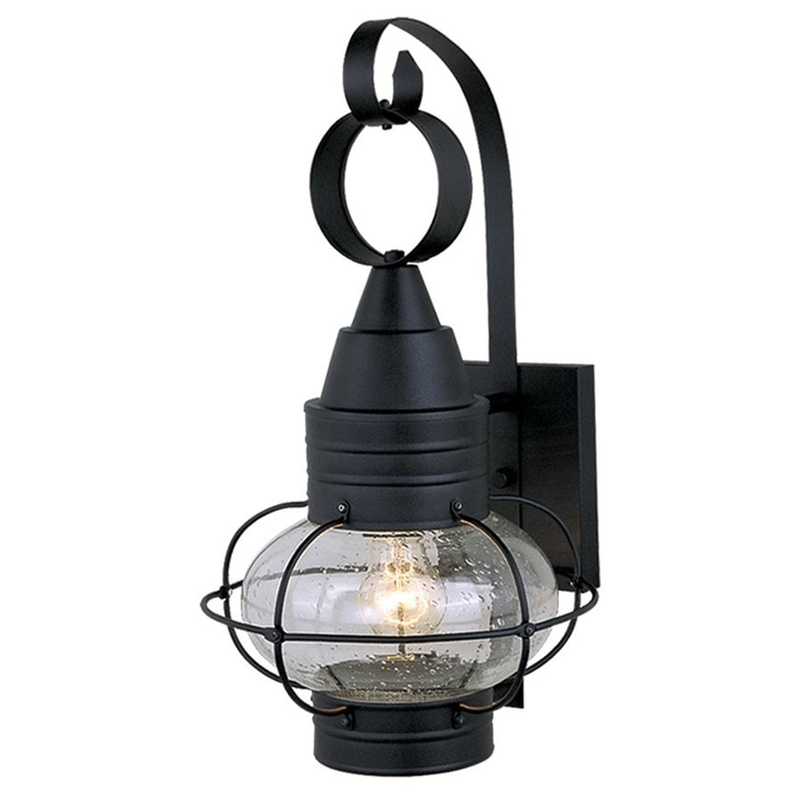 Cascadia Onion 22.75-in H Textured Black Outdoor Wall Light
