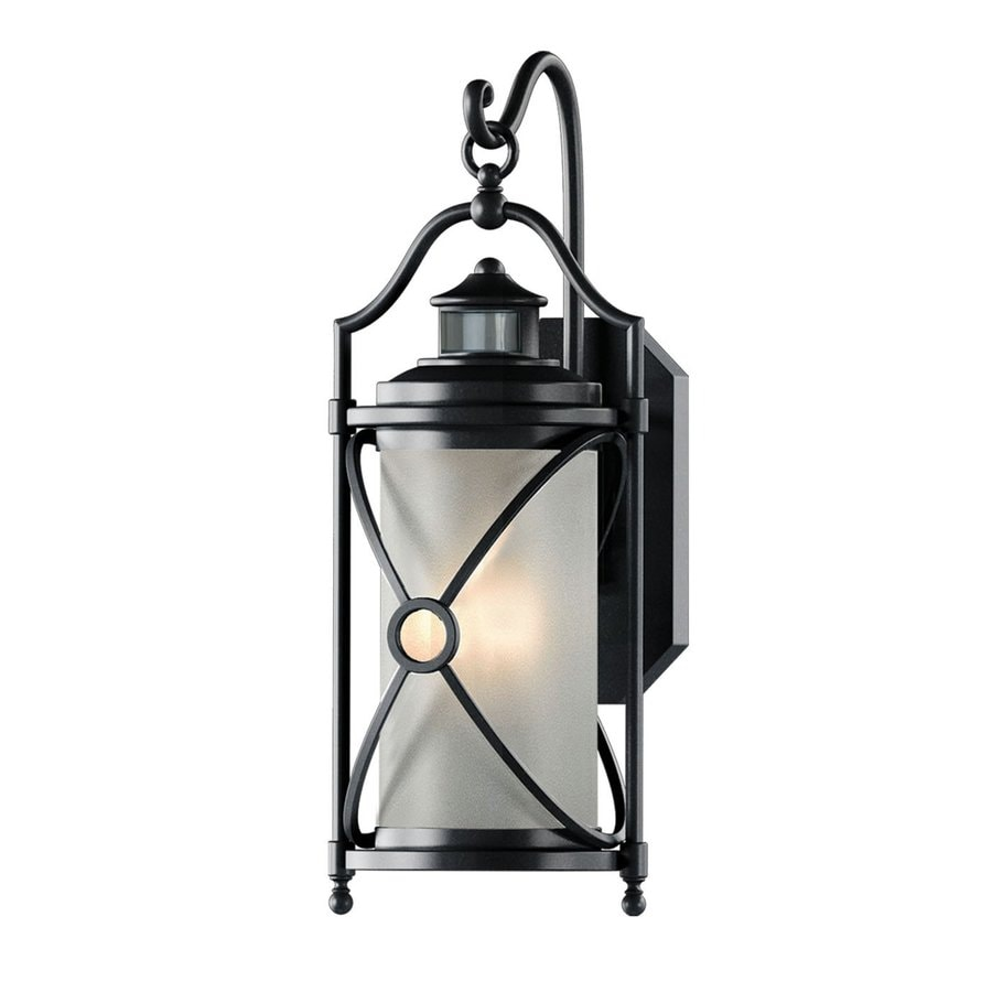 Cascadia Tilo 20.5-in H Oil-Rubbed Bronze Motion Activated Outdoor Wall Light