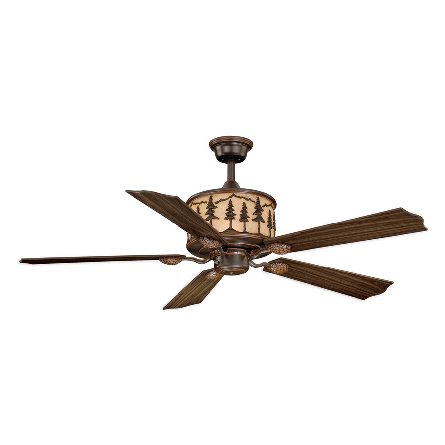 Cascadia Yosemite 56-in Burnished Bronze Downrod Mount Indoor Ceiling Fan with Remote (5-Blade)