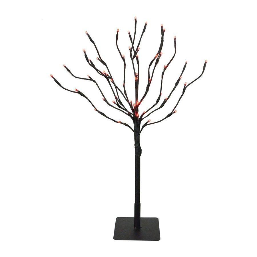 Fantastic Craft Pre-Lit Black Metal Tabletop Tree with Red LED Lights
