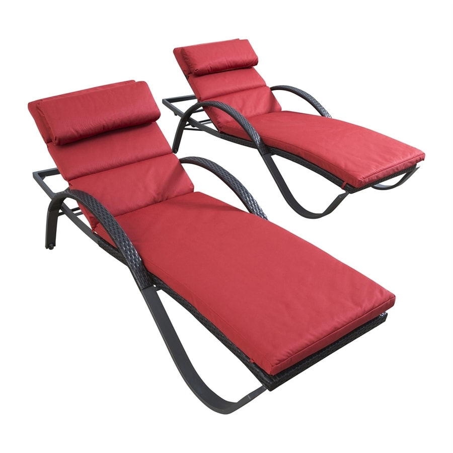 Shop rst brands deco 2 count wicker stackable patio chaise for 2 chaise lounges