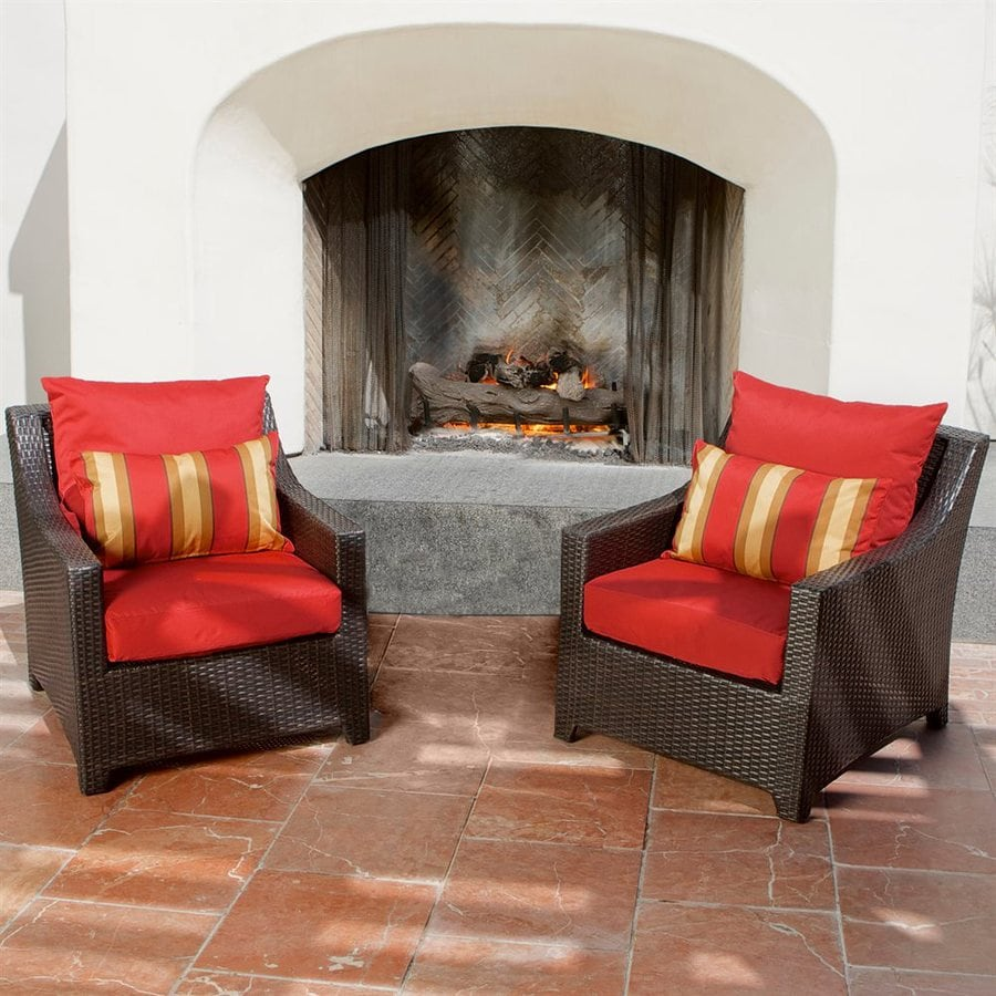 RST Brands Deco 2-Count Wicker Patio Conversation Chairs