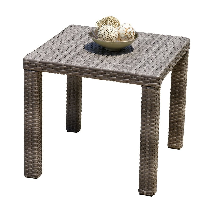RST Brands Cannes 20-in W x 20-in L Square Wicker End Table
