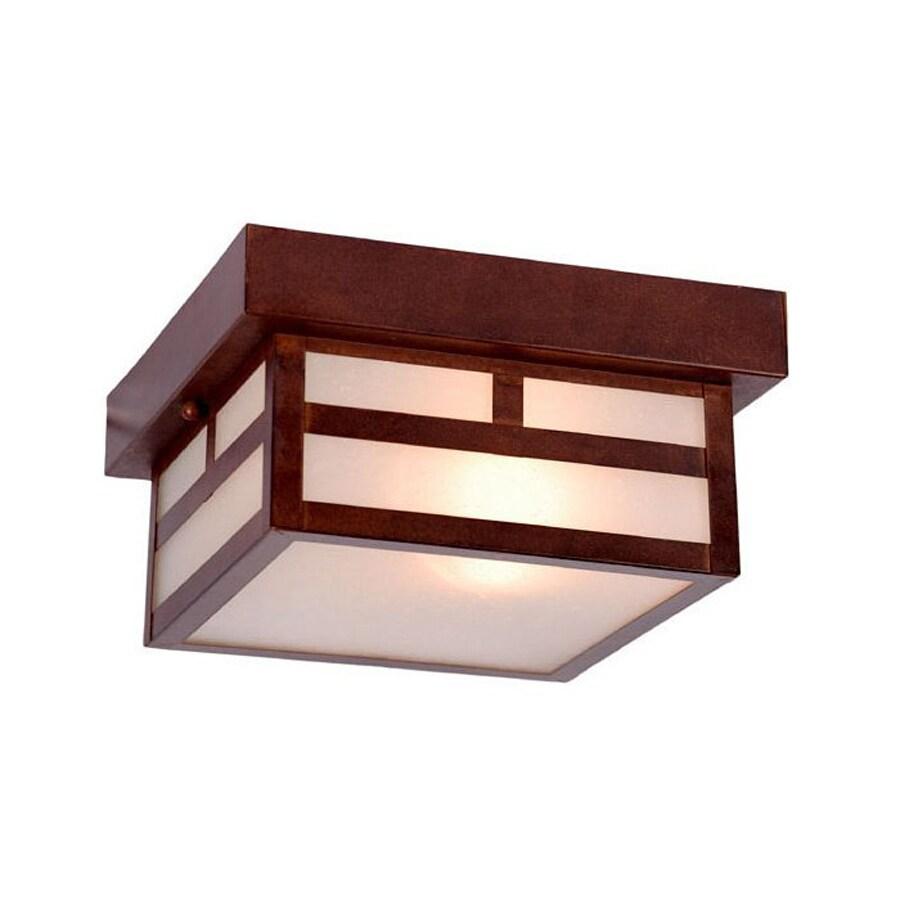 Acclaim Lighting Artisan 8.25-in W Architectural Bronze Outdoor Flush-Mount Light