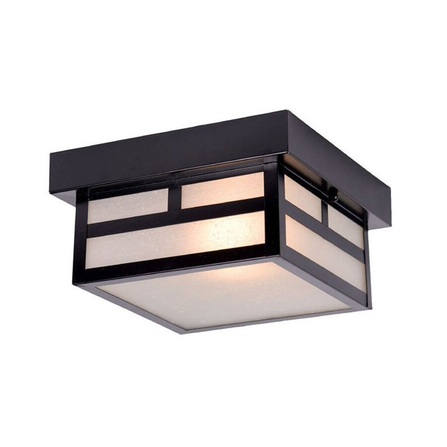 lighting artisan w matte black outdoor flush mount light. Black Bedroom Furniture Sets. Home Design Ideas