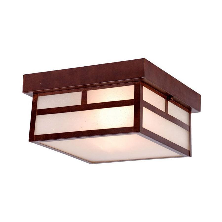 Acclaim Lighting Artisan 10.25-in W Architectural Bronze Outdoor Flush-Mount Light