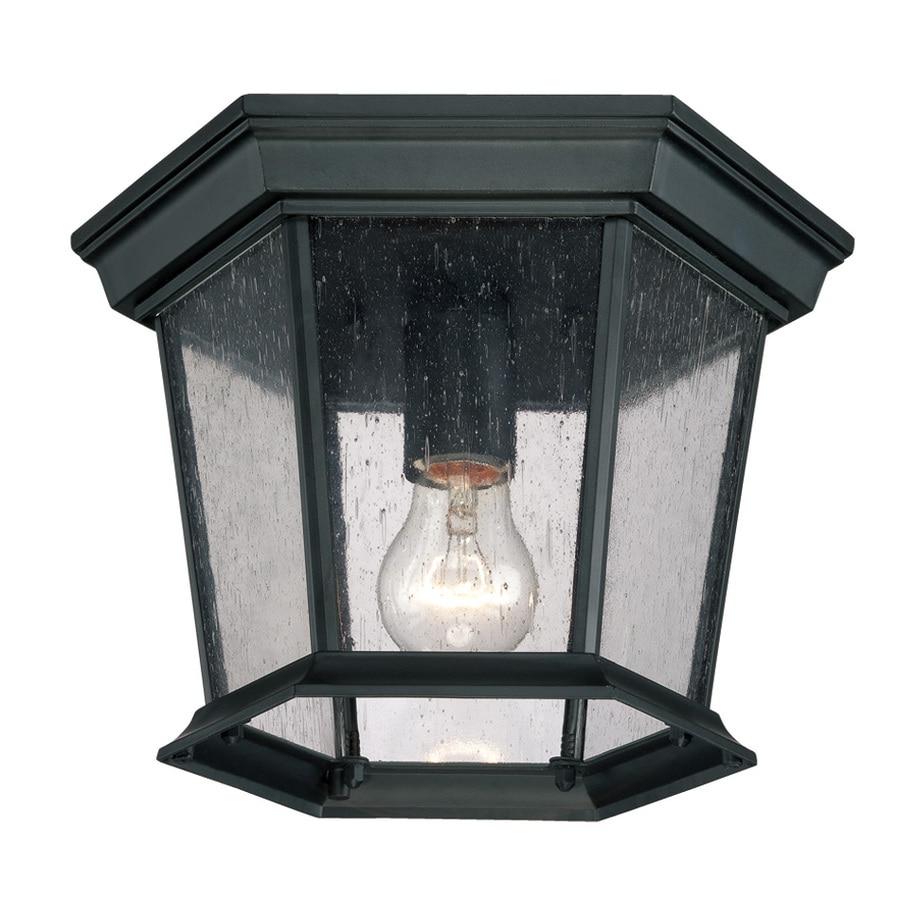Acclaim Lighting Dover 11-in W Matte Black Outdoor Flush-Mount Light