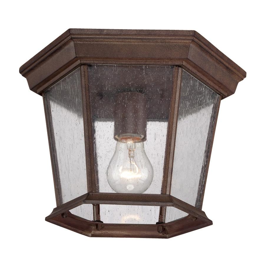 Acclaim Lighting Dover 11-in W Burled Walnut Outdoor Flush-Mount Light