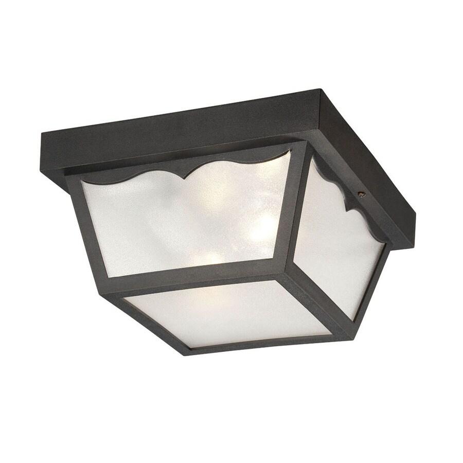 Acclaim Lighting Durex 10.25-in W Matte Black Outdoor Flush-Mount Light