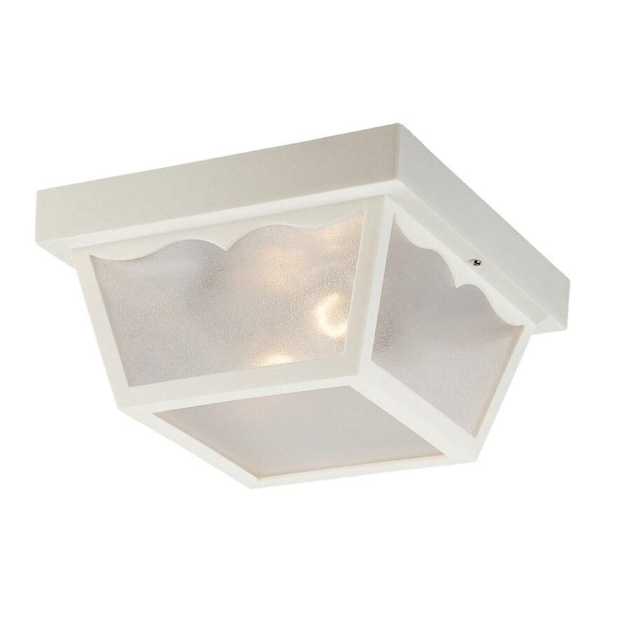Acclaim Lighting Durex 10.25-in W White Outdoor Flush-Mount Light