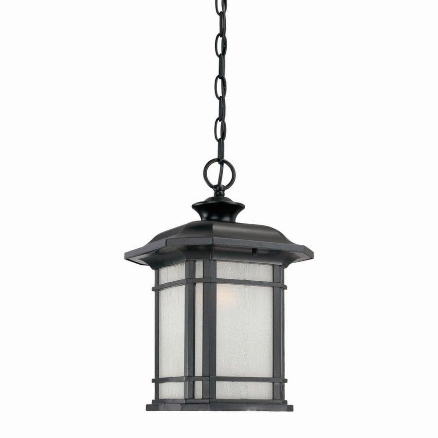 Acclaim Lighting Somerset 15-in Matte Black Outdoor Pendant Light
