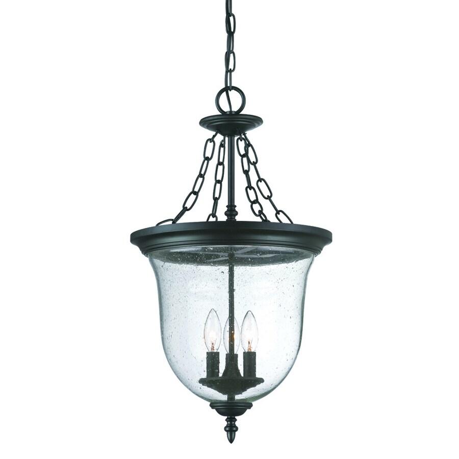 lighting belle matte black outdoor pendant light at lowes. Black Bedroom Furniture Sets. Home Design Ideas