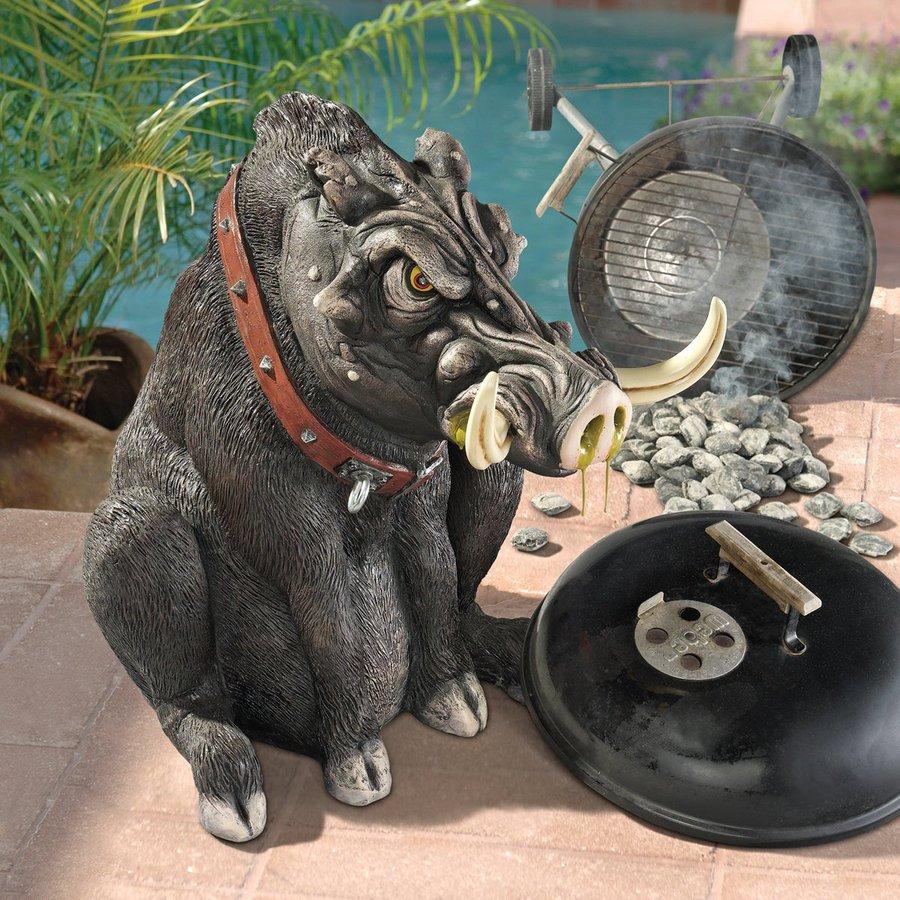 Design Toscano Bad Intentions Giant Warthog 27.5-in Animal Garden Statue