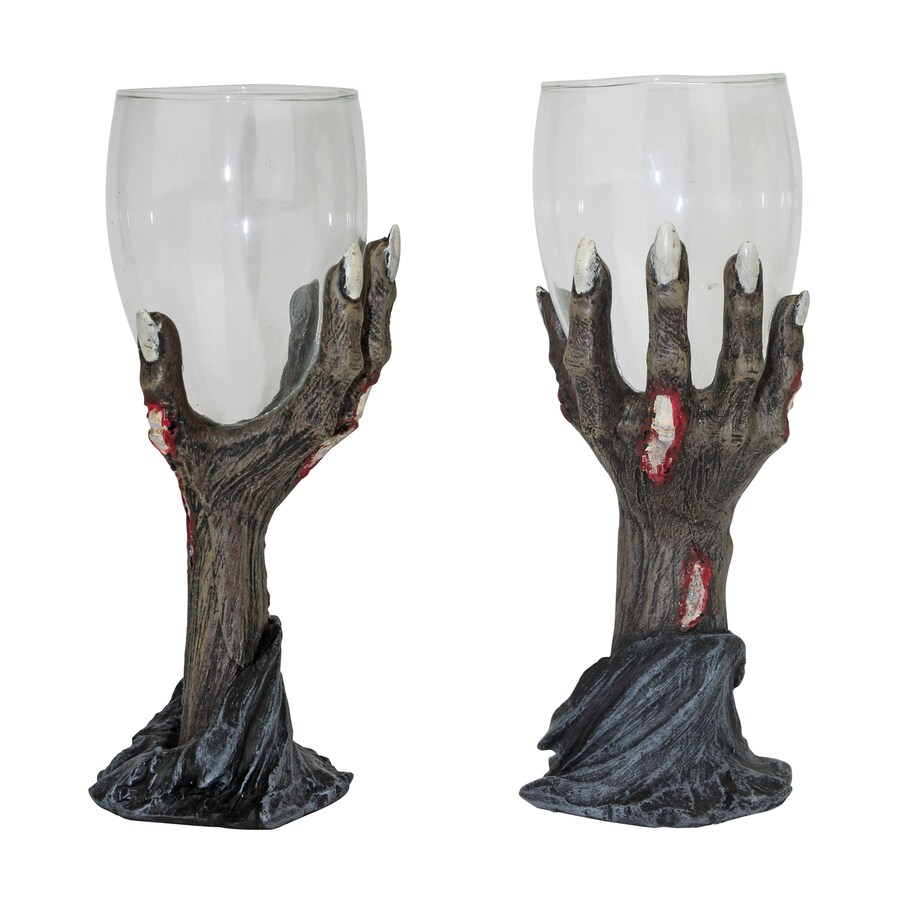 Design Toscano Toast Of The Zombie Set of 2 Tabletop Zombie Goblets