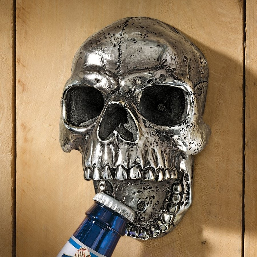 Design Toscano Wall-Mounted Skull Bottle Opener