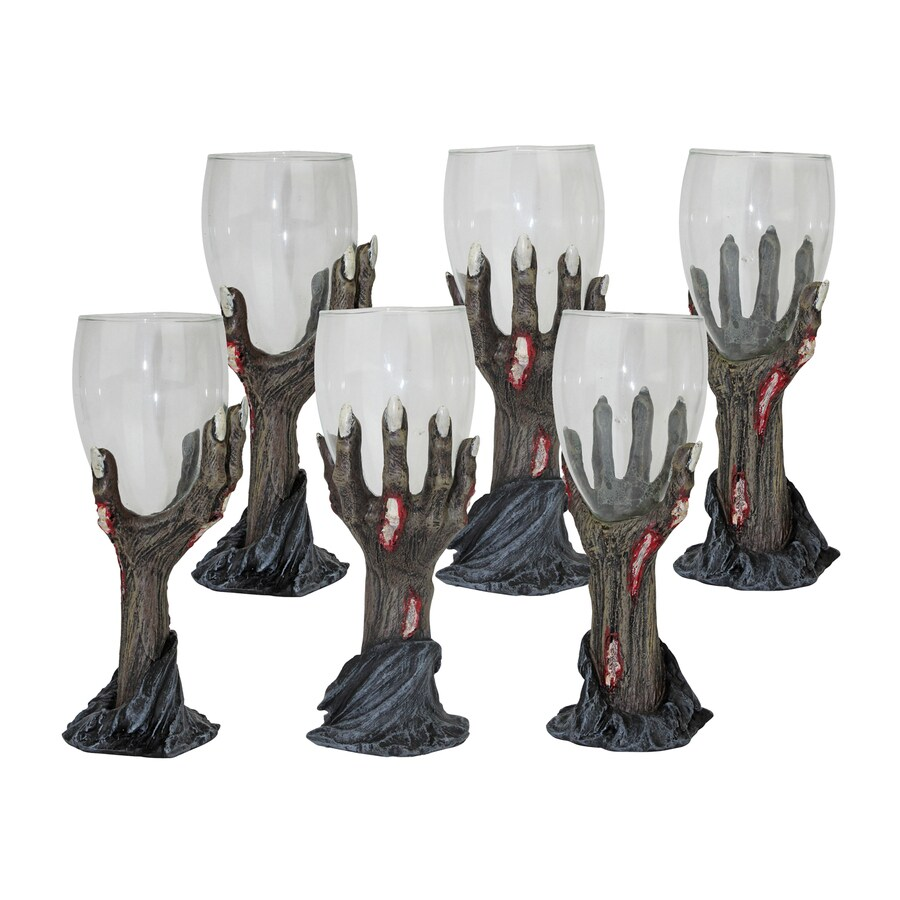 Design Toscano Toast Of The Zombie Set of 6 Tabletop Zombie Goblets