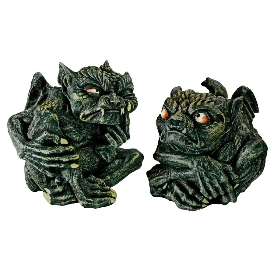 Design Toscano Devilish Gothic Trolls Set of 2 Freestanding Gothic Statues