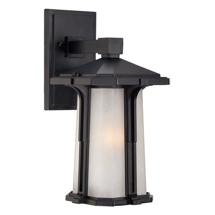 Acclaim Lighting Illuma 14-in H Matte Black Outdoor Wall Light
