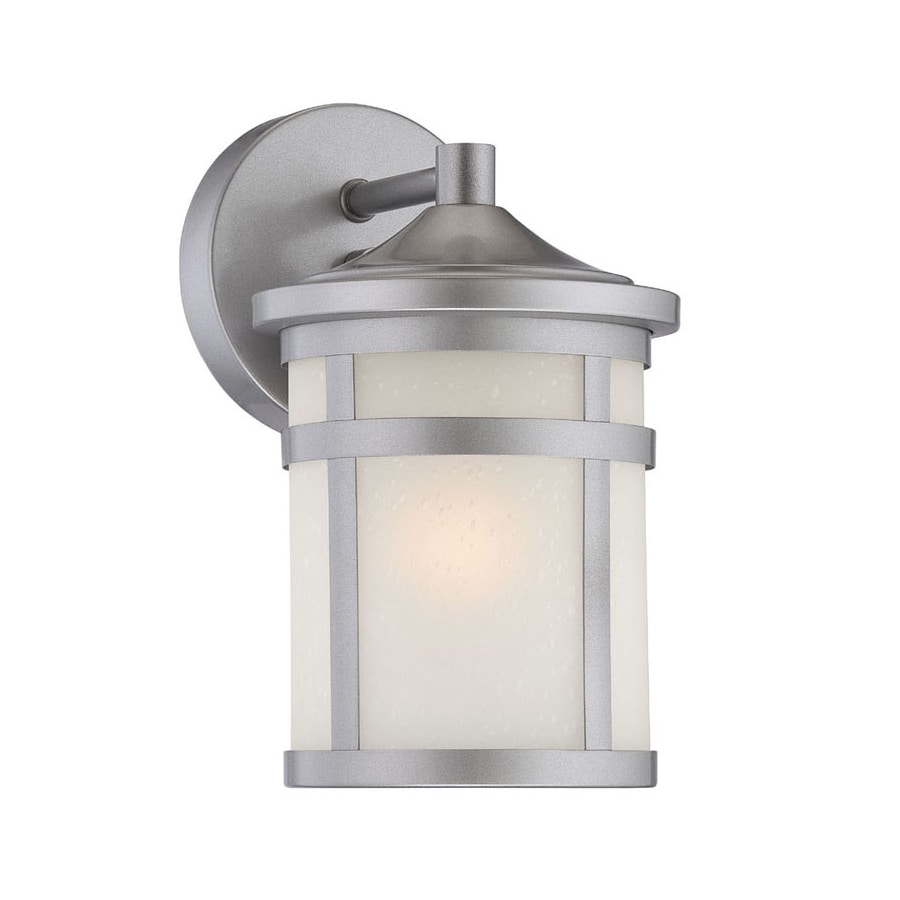 Acclaim Lighting Visage 9.25-in H Brushed Silver Outdoor Wall Light