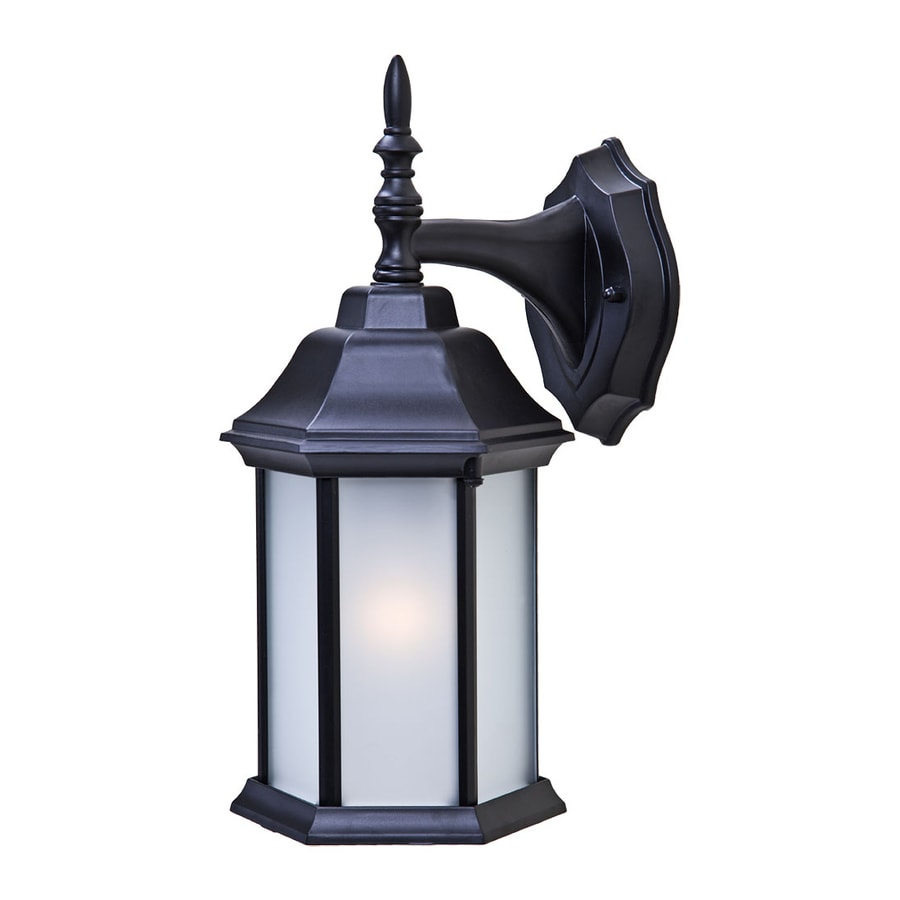Acclaim Lighting Craftsman 2 13-in H Matte Black Outdoor Wall Light